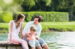 Spaß mit der Familie am See